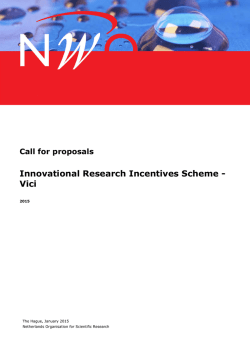Innovational Research Incentives Scheme - Vici