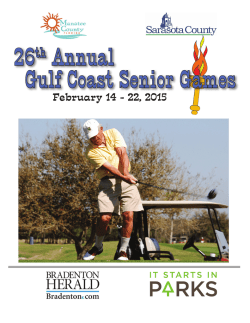 26th Annual Gulf Coast Senior Games
