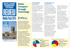 Media Pack 2015 - Intelligent Transport Systems Review