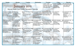 Activity Calendar - Bennett Health Care Centre