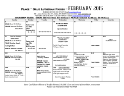 FEB 2015 CALENDAR - Peace Grue Lutheran Parish