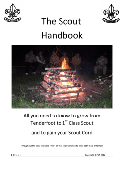 The Scout Handbook - Baden Powell Scouts Association