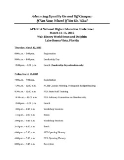 AFT/NEA Higher Education Conference agenda