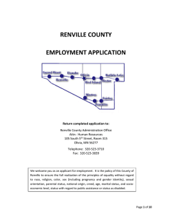 RENVILLE COUNTY EMPLOYMENT APPLICATION