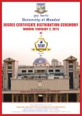 Degree CertifiCate Distribution Ceremony