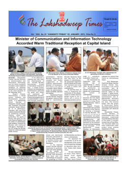 Lakshadweep Times 02 January 2015