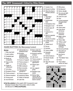 The GNY Crossword | Edited by Mike Shenk
