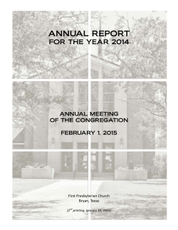 printable 2015 Annual Meeting Booklet