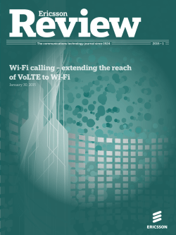 Wi-Fi calling – extending the reach of VoLTE to Wi-Fi