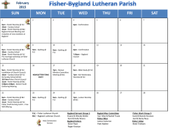 Current Calendar - Bygland Lutheran Church