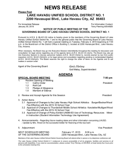 Agenda - Lake Havasu Unified School District