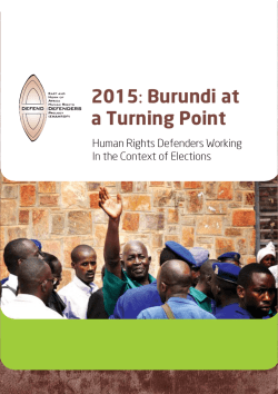 2015: Burundi at a Turning Point