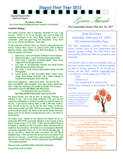 Newsletter - Fort Lauderdale Garden Club