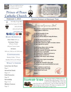 Parish Bulletin - Prince of Peace Catholic Church