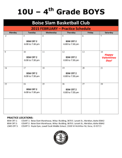 2015 4th Grade Boys - Boise Slam Basketball Club