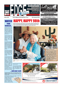 HAPPY, HAPPY 98th - The Edge Community News