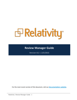 Review Manager Guide