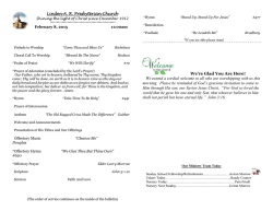 Bulletin - Linden ARP Church, Gastonia