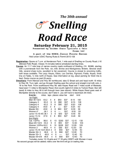 Snelling Road Race