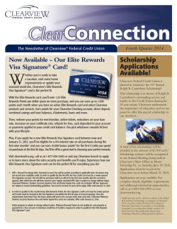Now Available - Clearview Federal Credit Union