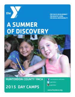 Camp Brochure 2015 - Hunterdon County YMCA