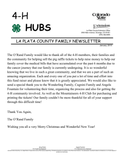 January 2015 HUBS - La Plata County Government