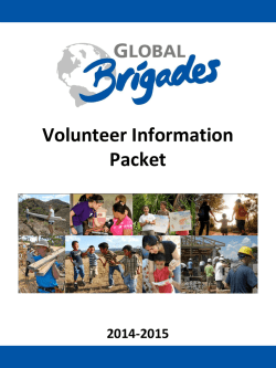 Volunteer Information Packet