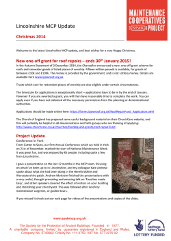 Lincolnshire MCP Update - Lincolnshire Heritage Forum