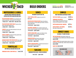 View the Bulk Menu