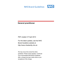 NHS Brand Guideline | General practitioner Guideline