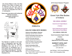 Grand York Rite Bodies of Indiana INDIANA