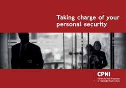 Taking charge of your personal security
