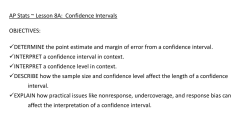 Basics of Confidence Intervals
