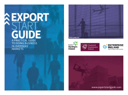 Export Start Guide - Enterprise Ireland