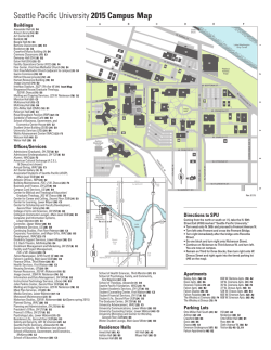 Download the SPU Campus Map - Seattle Pacific University