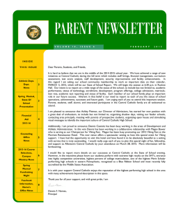 PARENT NEWSLETTER - Allentown Central Catholic High School