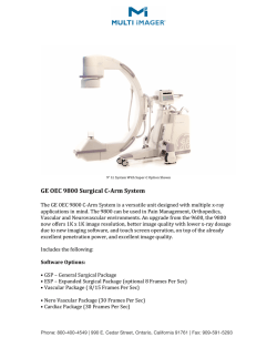 GE OEC 9800 Surgical C-Arm Brochure