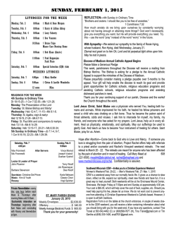 Parish Bulletin February 1, 2015