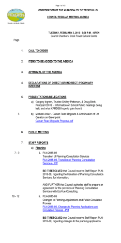 Council Meeting Agenda - February 3, 2015