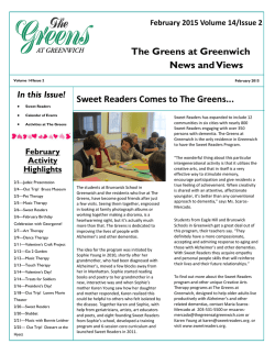 Newsletter - The Greens at Greenwich