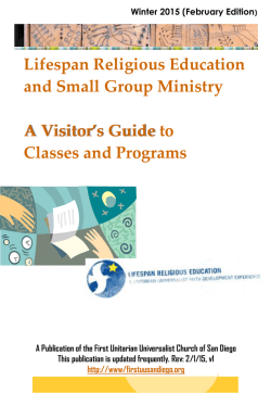 Visitors Guide - First Unitarian Universalist Church of San Diego