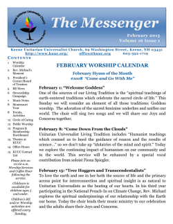 The Messenger - Keene Unitarian Universalist Church