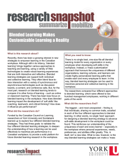 Blended Learning Makes Customizable Learning a Reality