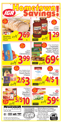 Weekly Ad - Brown County IGA