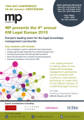 MP presents the 9th annual KM Legal Europe 2015