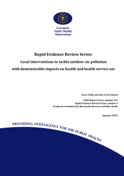 Rapid Evidence Review Series: