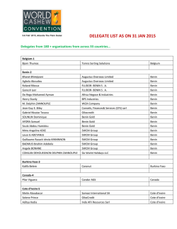 DELEGATE LIST AS ON 31 JAN 2015