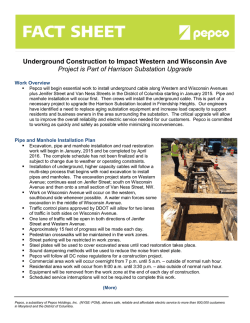 Pepco Underground Construction Fact Sheet