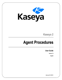 Scheduling Agent Procedures