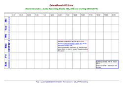 Audio Recording Studio 306 - Timetable
